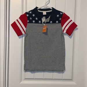 Gymboree American flag shirt